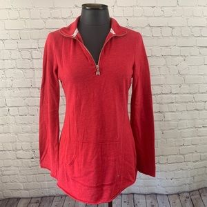 Victoria's Secret Pink Red Quarter Zip Sweatshirt